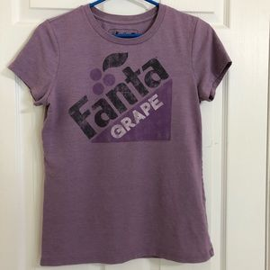 Coca Cola Grape Fanta Purple Graphic Tee Medium